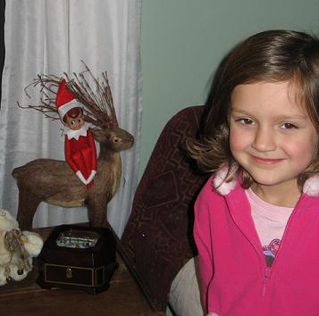Christy and Elf on the Shelf