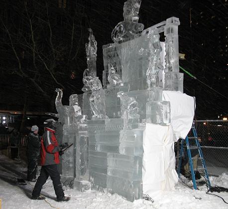 Ice Sculpture Contest in Boston