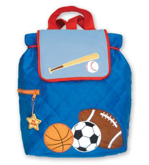 Sports Quilted Toddler Backpack