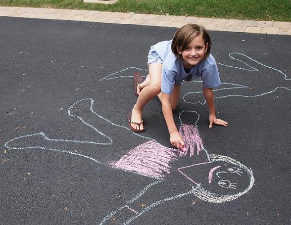 chalk art smile