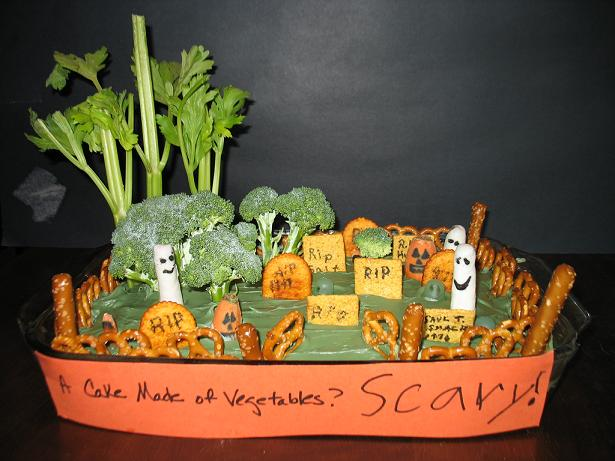 scary vegetable cake