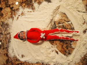 Elf on the Shelf Snow Angels