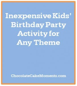 Inexpensive Kids' Birthday Party Activity for Any Theme